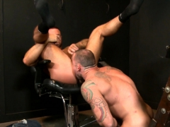 Muscular boyfriends Sean Duran and Michael Roman going deep