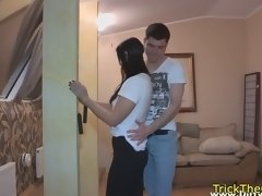 real cheating gf doggystyled on the floor