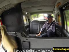Busty taxidriver fucks her famous passenger