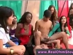 Cfnm femdom inexperienced party group
