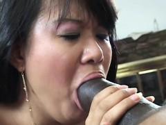 Asiático, Mamada, Estilo perrito, Peludo, Interracial, Japonés