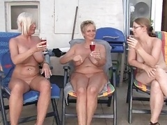 Lesbo mature and also grannies