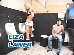 Tgirl Threesome In A Toilet