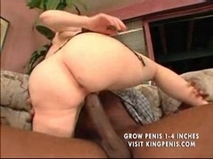 unshaved mature takes bbc in both holes