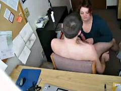 Horny Slut Fat BBW secretary getting fucked for a raise