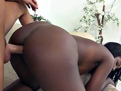 Sexy ebony Lauryn Graham has awesome tits