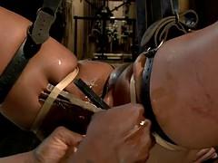a hot bondage video with the ebony porn star skin diamond