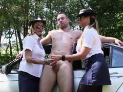 Cfnm police domina sucks