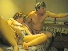 Masturbating having a beercan