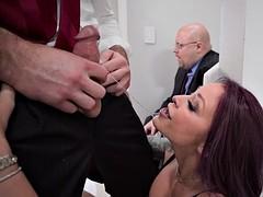 monique alexander sucks cock in front of her husband