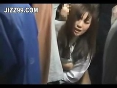 japanese schoolgirl sticky creampie fucked on bus 02