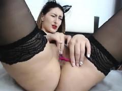 Toying stockings milf ass fucked