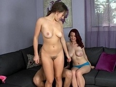 A pair of natural titted gals Lily's and Jessica