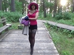 high heels walk