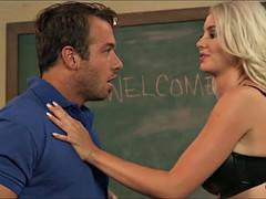 Sexy Blonde Teacher gets Chad's Cock