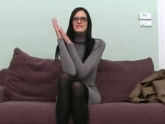 Woman performer makinglove with fake agent
