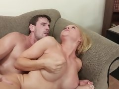 Krissy Lynn has a hot blonde bush in this hardcore scene