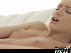 She feels alone takes a dildo and masturbates bef