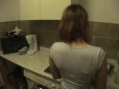 Her Orgasm In The Kitchen