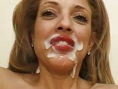 Betty monster cumshot on face