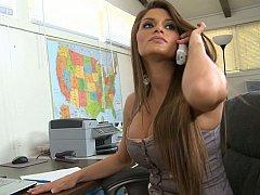 Incroyable, Américain, Gros seins, Brunette brune, Hard, Mère que j'aimerais baiser, Bureau, Secrétaire