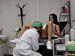 thick estrellita gets her latina pussy cured by doc's boner