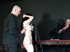 Faes breast flogging punishment and rough tit tort