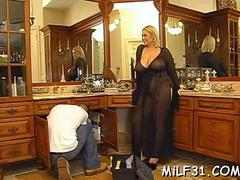 Lucky guy fucks a babe with biggest pair of tits in the world