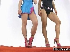 A couple of hot models with tight booty's and additionally extremely