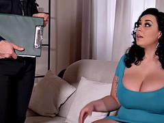 Belle grosse femme bgf, Gros seins, Brunette brune, Tir de sperme, Fétiche, Hard, Actrice du porno