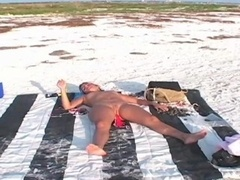 Nude Sunbathing & Sucking cock on a Public Beach