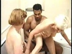 Granny and additionally Black Man in the Bath Joined by a Soccer mom