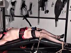 Lesbian bdsm of amateur slave girl Alex in female domination