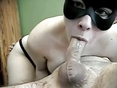 New Years Deep throat with Mask & Throat cum