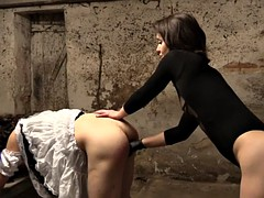 Anal, Femme dominatrice, Allemand, Lingerie, Strapon