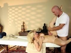 Busty massage amateur fucks masseur for info