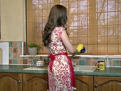 Housewife Masturbates In The Kitchen