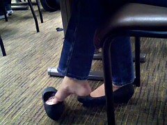 Candid College Shoeplay Feet