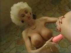 Stunning retro pornography episode with incredibly stacked blondie