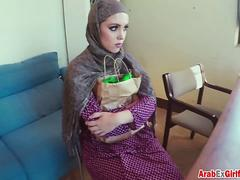 Arab girlfriend is new position in a company is on her boss hard dick