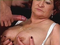Fleshy Old and plus her Toy