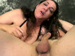 Betty Blaze face fucked by standing man