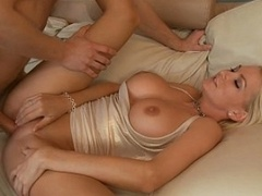 His father's breasty broad gets fucked