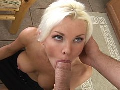 Blue eyed blonde sexy teacher