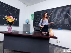Christiana Cinn In Anal Lesson From Tutor in Stockings