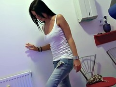 Picked up petite teen stripping for cash