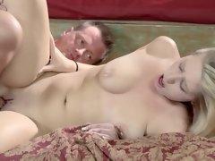 Tender creature satisfies all sexual needs of older man