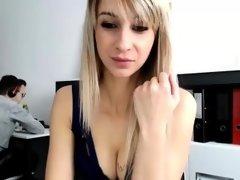 Hot busty amateur babe webcam show
