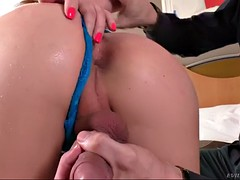 ts giselly soares gets her dick sucked and ass finger fucked by a man