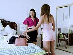 Chambre à dormir, Japonaise, Lesbienne, Léchez, Chatte, Soeurs, Adolescente, Mouillée